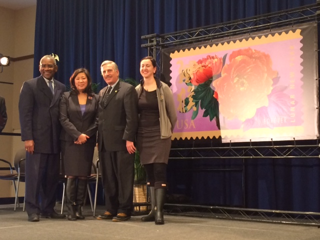 Assemblyman David Weprin with Congresswoman Grace Meng, Congressman Gregory Meeks, and Assemblywoman Nily Rozic joined the USPS at St. John�s University to launch a Lunar New Year stamp in commemorati