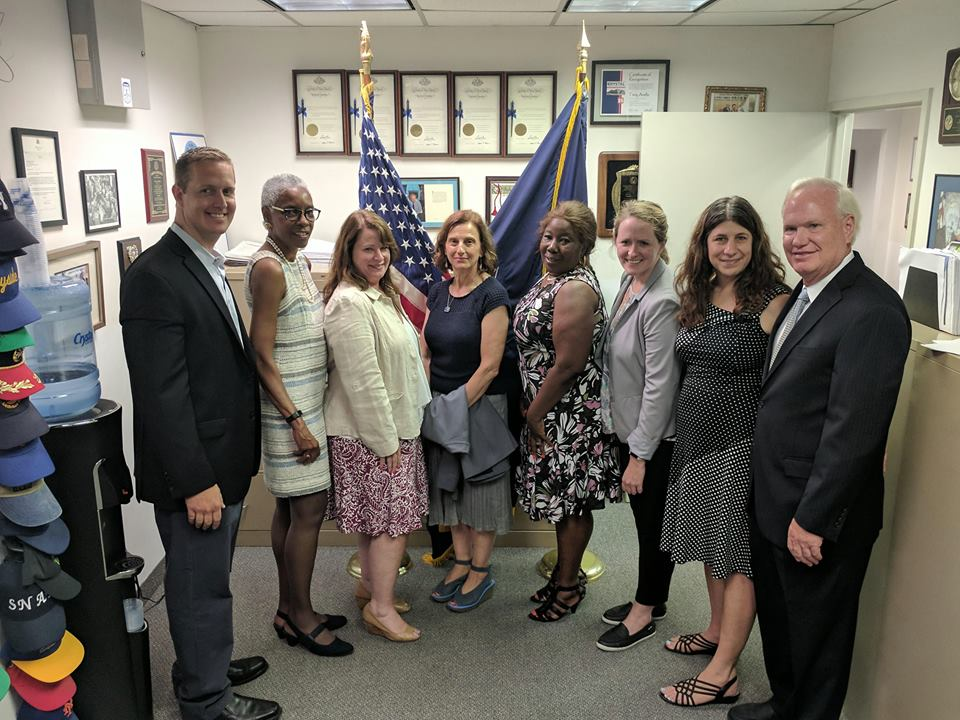 Senator Tony Avella, Foster Care advocates, and Assemblyman Hevesi attend a press conference announcing the passage of KinGAP legislation