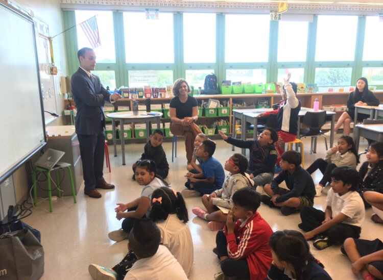 Was a great time visiting PS361Q on their first day of school.  The students gave me great suggestions for legislation. I was very impressed by their knowledge.