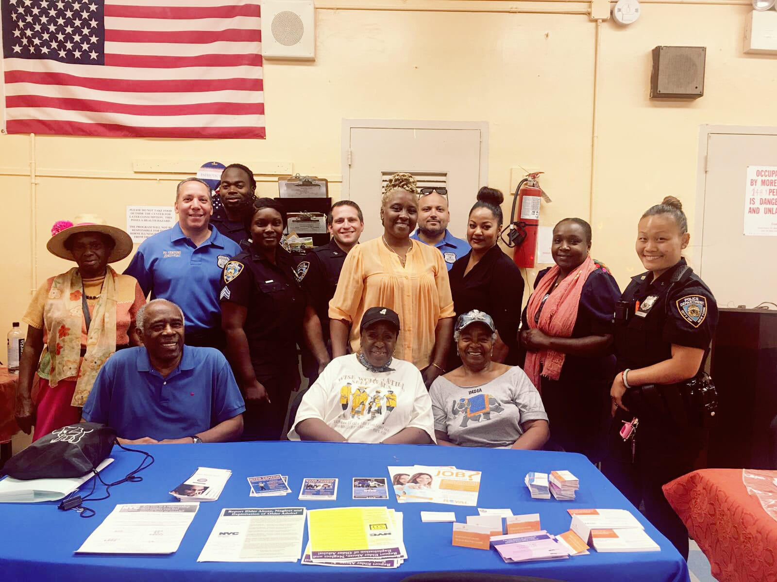 Co-hosting a workshop on Elder Abuse and Scam Alert in conjunction with the NYPD, Safe Horizon and Brooklyn DA's Office at Glenwood Senior Center.