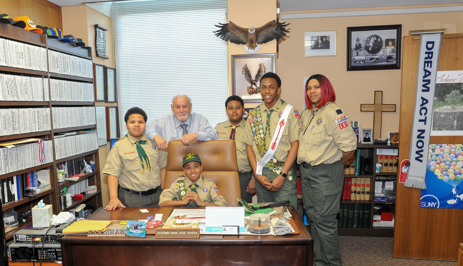 Meeting with Boy Scouts from Troop 185