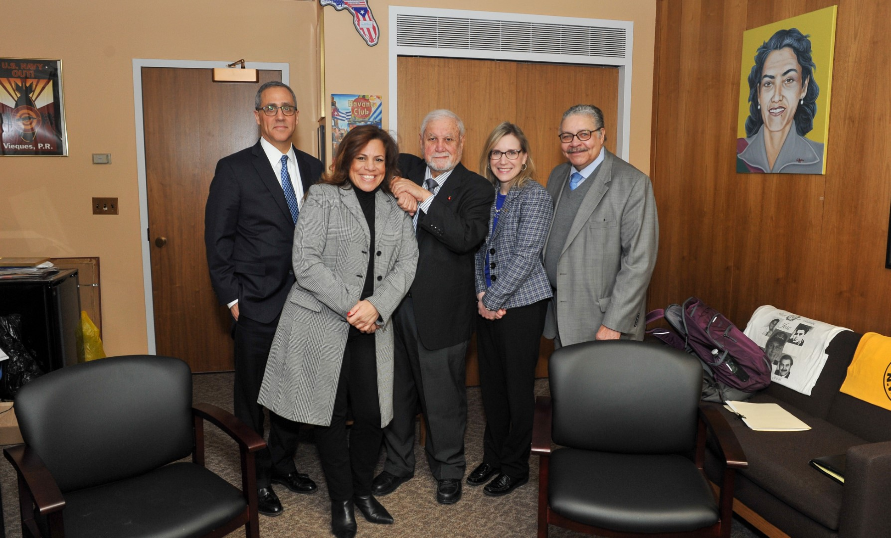 Assemblyman Jose Rivera meets with officials from Greater New York