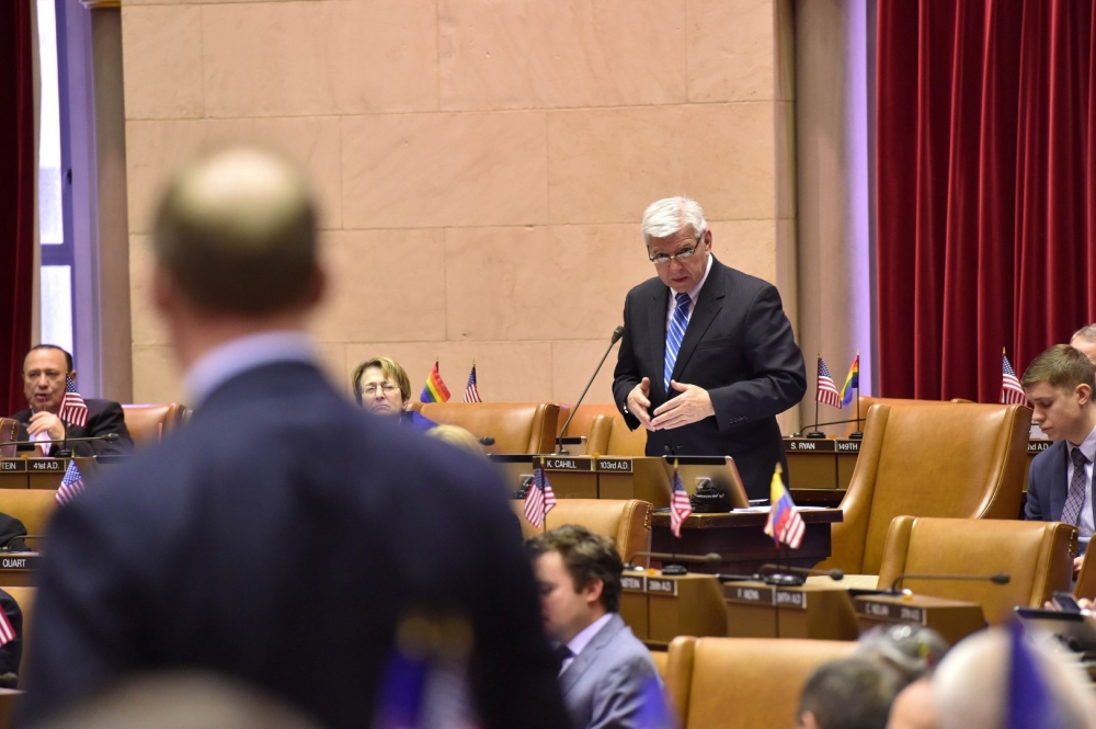 Other members wanted to discuss Assembly member Cahill's chapter bill on the floor.