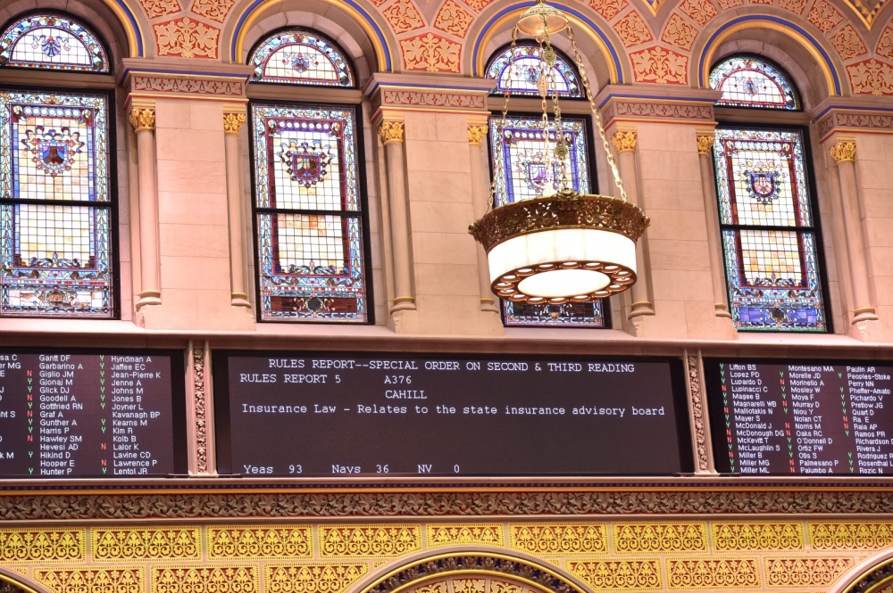 Assembly member Cahill's bill is passed.