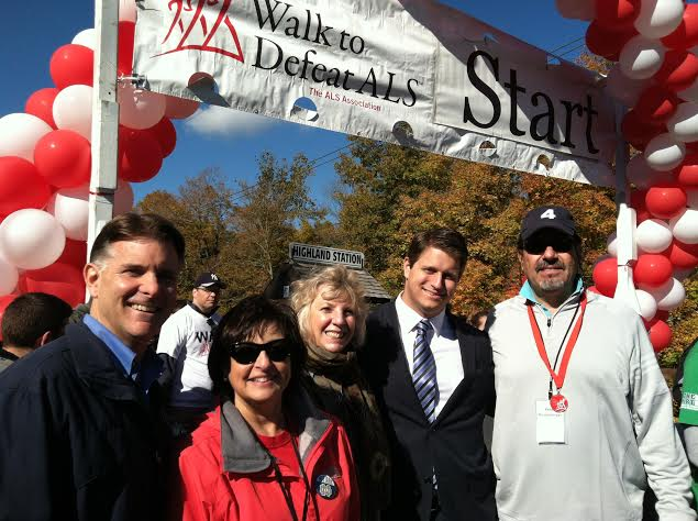 Assemblymember Didi Barrett participates in the Walk to Defeat ALS hosted by the ALS Association of Greater NY. Over $150,000 for ALS patients was raised at this event which took place on the Walkway