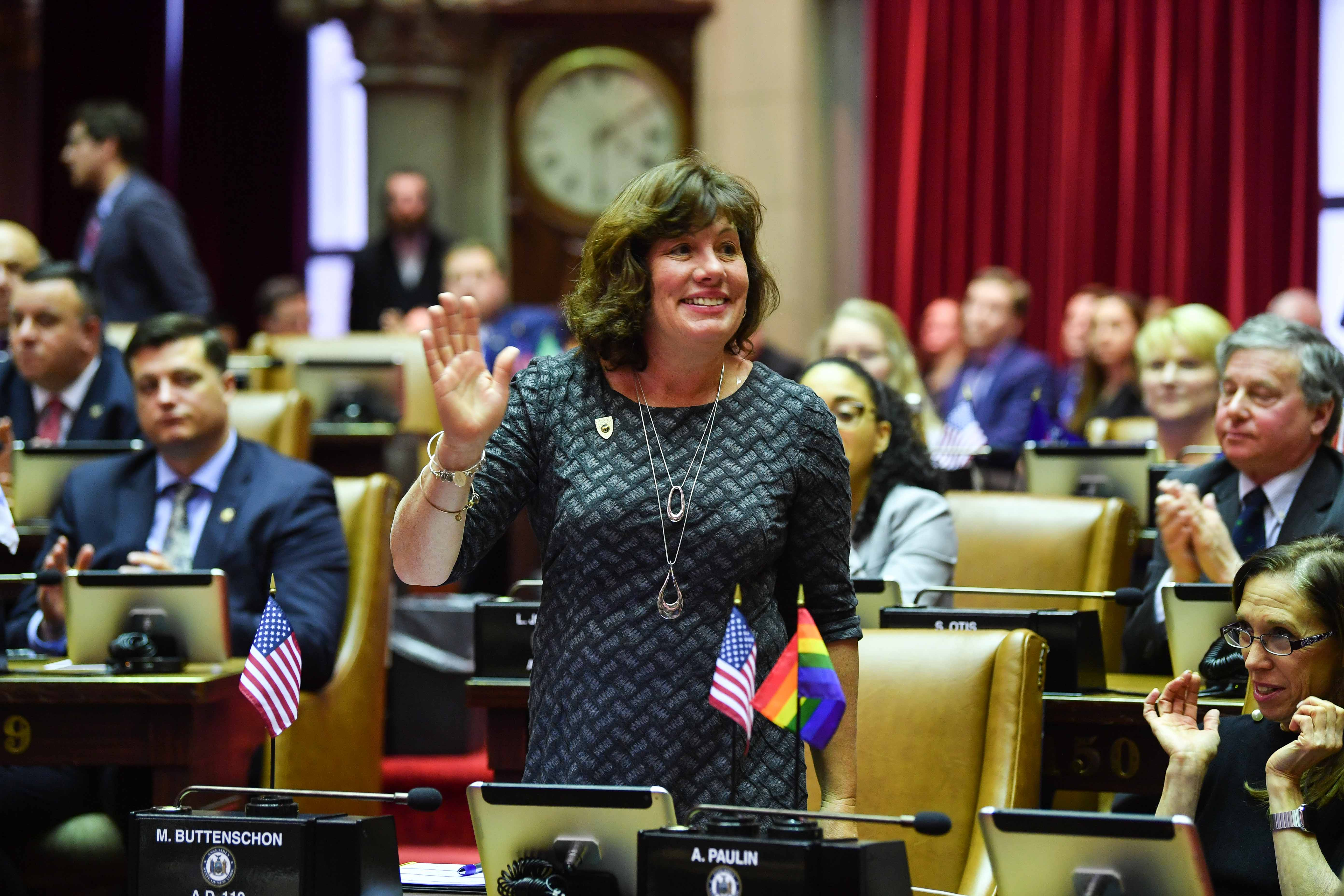 Assemblywoman Buttenschon being introduced on the floor for the first time for the 2019 Legislative Session.