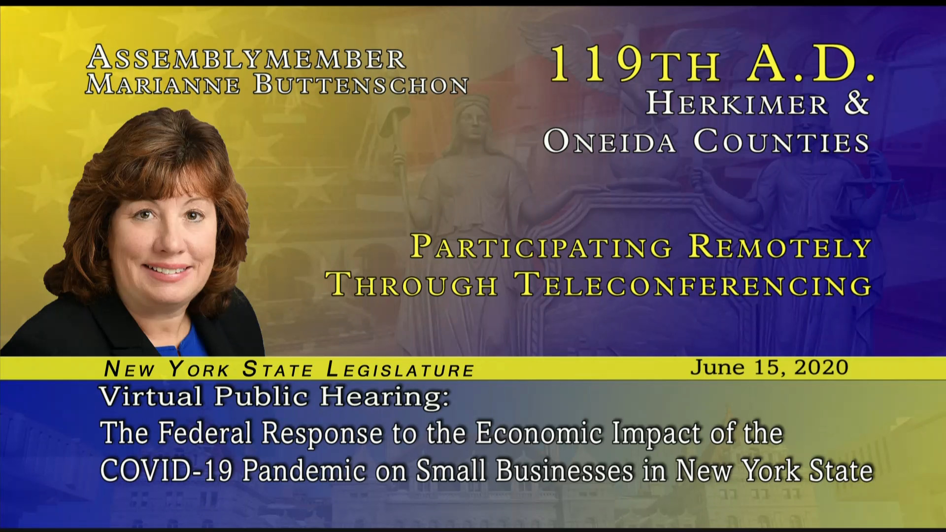 Public Hearing on Federal Response to COVID-19 Impact on Small Business and Farms