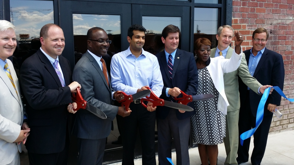 Assemblywoman Peoples-Stokes at the Liazon ribbon cutting ceremony; part of Buffalo�s growing Information Technology sector.