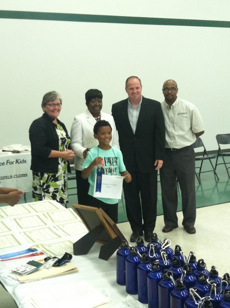 Assemblywoman Crystal Peoples-Stokes and Senator Tim Kennedy attend the Buffalo Boys and Girls Club spelling bee. Also acknowledging the Campaign Kickoff for �Great Futures.