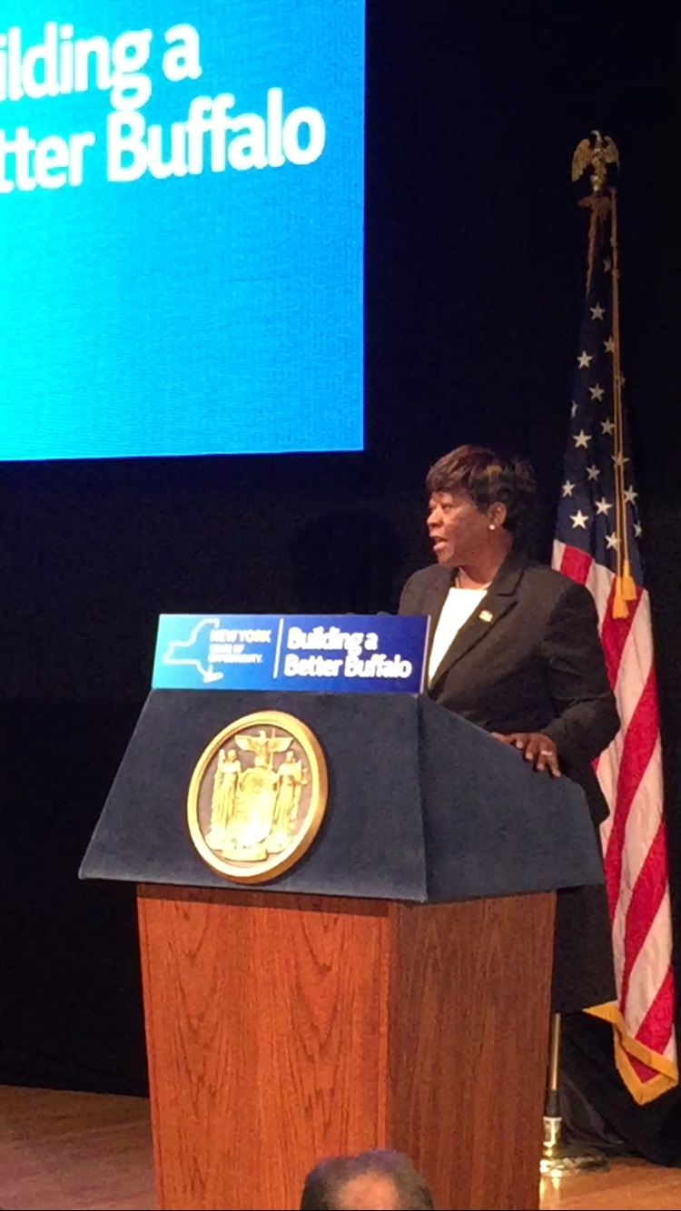 April 06, 2016 � Assemblywoman Peoples-Stokes highlights transportation projects included in the state budget. These projects will transform travel, better connect local communities, and improve road