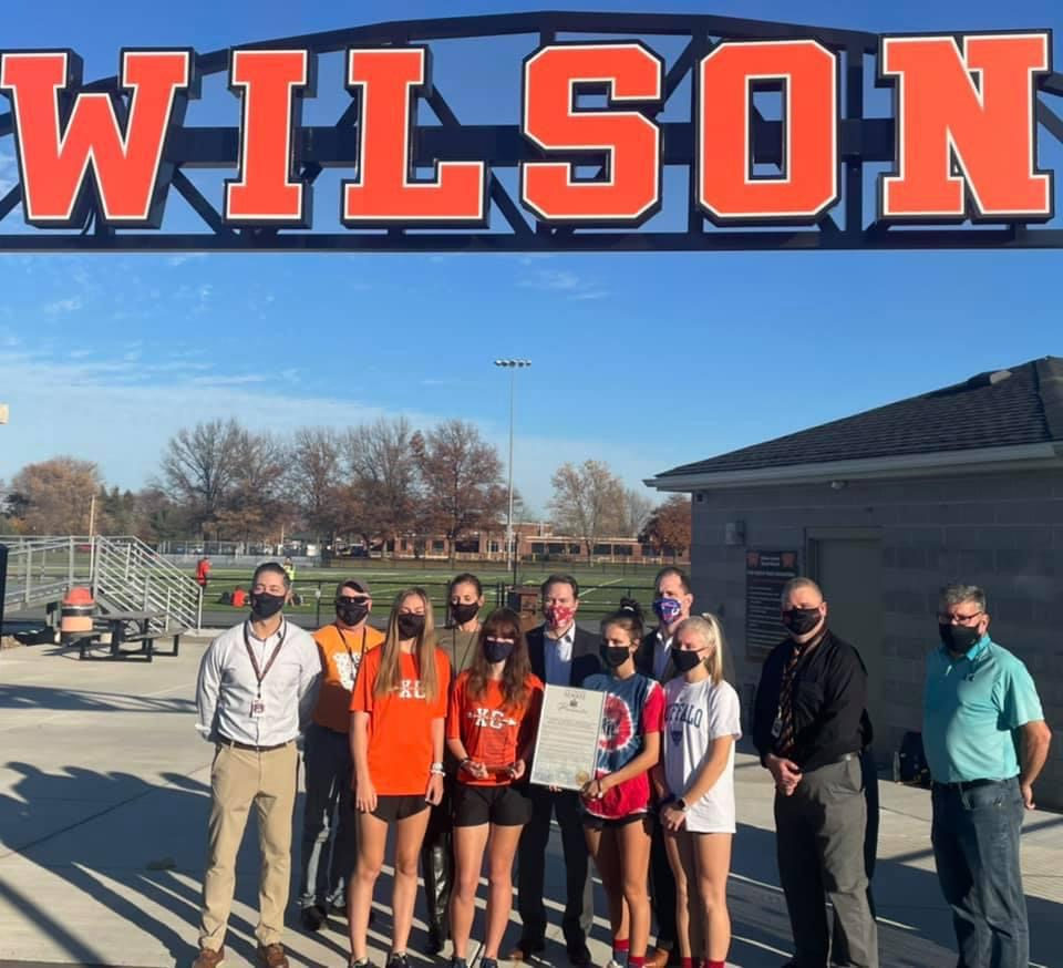 Assemblyman Mike Norris and Senator Rob Ortt had the pleasure to present a proclamation to the fall and winter varsity sports teams from Wilson High School. During the 2019-2020 fall and winter sports